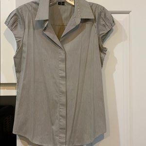 Theory medium cap sleeve blouse